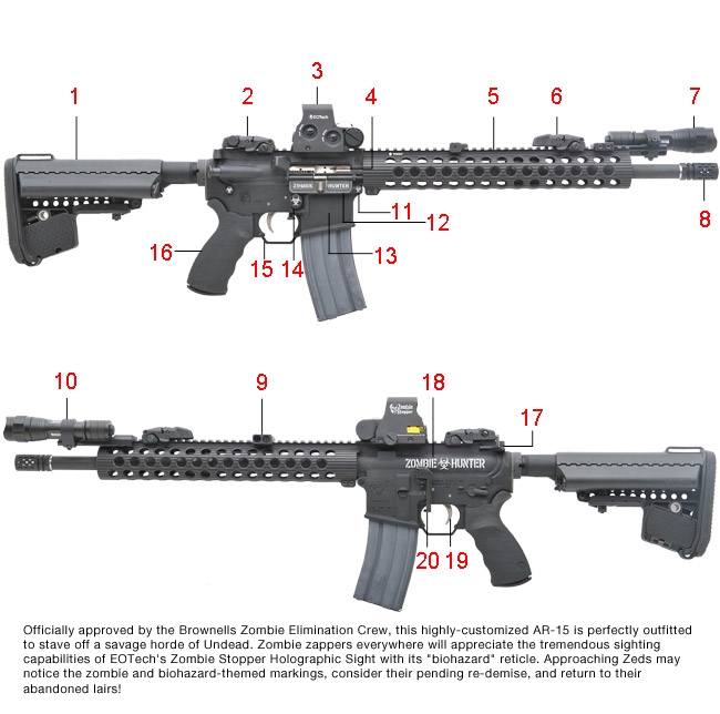 Zombie Hunter AR-15 | Top Rated Supplier of Firearm Reloading ... on ar schematics, smith & wesson schematics, pistol schematics, ak schematics, m16 schematics, glock schematics, ruger schematics, firearms schematics, guns schematics, rifle schematics, marlin schematics, sks schematics,