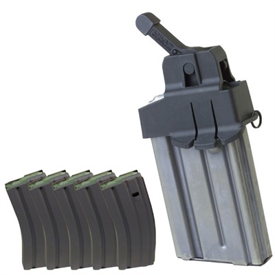 Ar-15/M16 30rd 223/5.56 Magazines With Mag Loader - Ar-15/M16 Mag Loader & Five 30-Round Magazines W