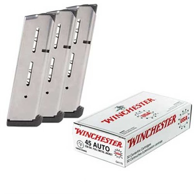 Wilson 1911 Mags W/ Ammunition - 3 Wilson 8-Round Mags W/200 Rounds .45 Acp 230gr Fmj