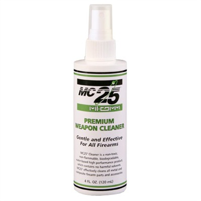 Mil-Comm Weapons Grease - Mc25 Cleaner Degreaser 4 Oz. Spray Bottle