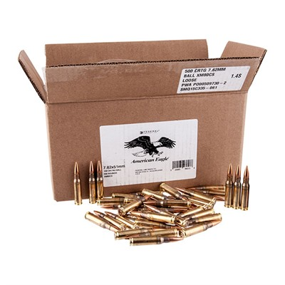 M80 7.62 Nato 149gr Ball 500/Rds - Federal Ammo M80 7.62 Nato 149gr Ball 500/Bx