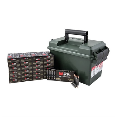 500 Round .223 Rem Ammo Can - Wolf 223 Rem 55gr Fmj 500 Rd Ammo Cans