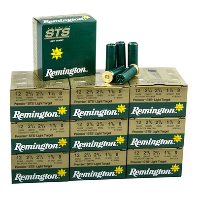 Premier Sts Target Shotshells - Premier Sts 12ga 2-3/4 1-1/8oz Light Handicap #8 Shot Case