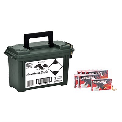 American Eagle Ammo 45 Acp 230gr Fmj Ammo Can - 45 Acp 230gr Full Metal Jacket 300/Ammo Can