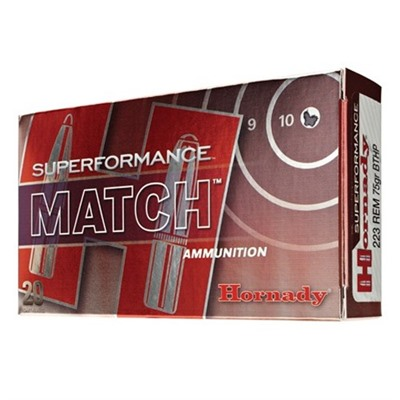Superformance Match Ammo 223 Remington 75gr Hpbt - 223 Remington 75gr Hollow Point Boat Tail 20/Box