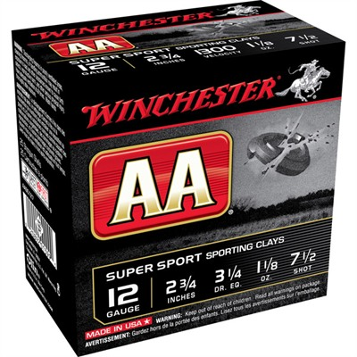 Aa Supersport Ammo 12 Gauge 2-3/4'''' 1-1/8 Oz #7.5 Shot - 12 Gauge 2-3/4'''' 1-1/8 Oz #7.5 Shot 25/