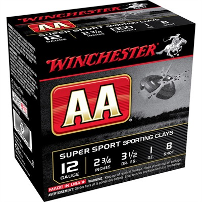 Aa Supersport Ammo 12 Gauge 2-3/4'''' 1 Oz #8 Shot - 12 Gauge 2-3/4'''' 1 Oz #8 Shot 25/Box