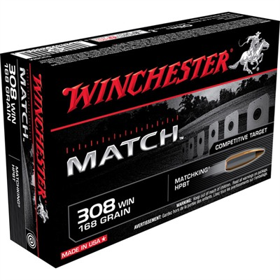 Supreme Match Ammo 308 Winchester 168gr Hpbt - 308 Winchester 168gr Hollow Point Boat Tail 20/Box