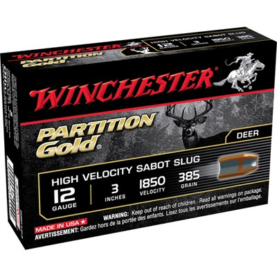 Partition Gold Hv Ammo 12 Gauge 3'''' 385gr Sabot Slug - 12 Gauge 3'''' 385 Gr Sabot Slug 5/Box