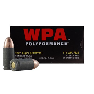 Polyformance 9mm 115gr Fmj Ammunition - Polyformance 9mm Luger 115gr Fmj 50/Box