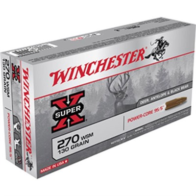 Super X Power-Core Ammo 270 Wsm 130gr Protected Hp - 270 Wsm 130gr Protected Hollow Point 20/Box