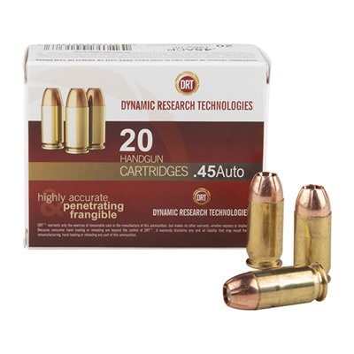 Frangible Handgun Ammunition - Drt Handgun Ammunition- .45 Acp 150gr Jhp
