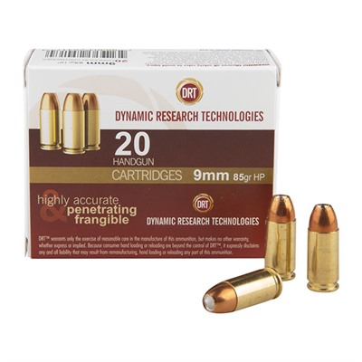 Frangible Handgun Ammunition - Drt Handgun Ammunition- 9mm 85gr Jhp