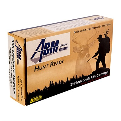 Hunt Ready Ammo 300 Win Mag 168gr Berger Classic Hunter - 300 Winchester Magnum 168gr Match Classic