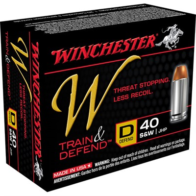 Train & Defend Ammunition - Defend .40 S&W 180gr Jhp 200/Case