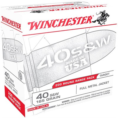 Target 'Usa White Box' Handgun Ammunition - 40 S&W 165gr Fmj White Box Target 200/Box