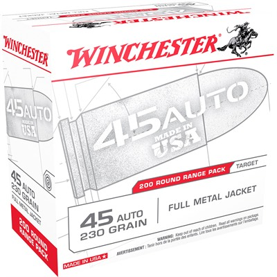 Target 'Usa White Box' Handgun Ammunition - 45 Acp 230gr Fmj White Box Target 200/Box