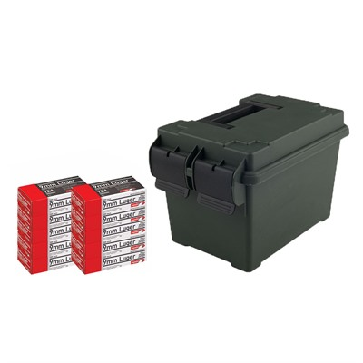 Pistol Ammo Cans - 9mm 124gr Fmj 500/Can