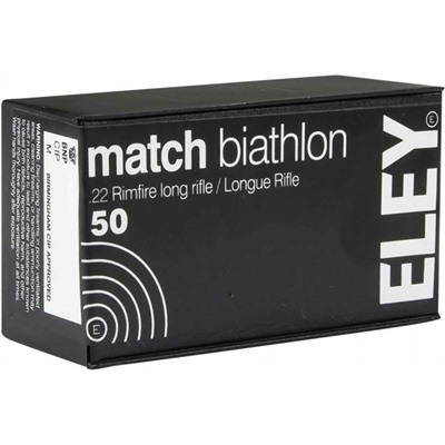 Match Biathlon Ammo 22 Long Rifle 40gr Lead Flat Nose - 22 Long Rifle 40gr Lead Flat Nose 50/Box