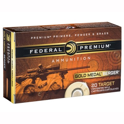 Gold Medal Berger Ammo 223 Remington 73gr Berger Boattail Target - 223 Remington 73gr Boattail Targe