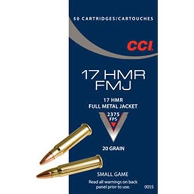 Fmj Ammo 17 Hmr 20gr Full Metal Jacket - 17 Hmr 20gr Full Metal Jacket 50/Box