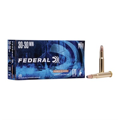 Power-Shok Soft Point Round Nose - Federal Ammo 30-30 Win 170gr Hishk Sp Rn 20rnds/Bx