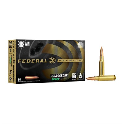 Gold Medal Match Ammunition - Gold Medal Match .308 Win 175gr Hpbt 20/Box