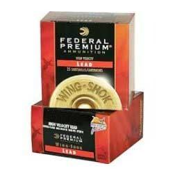 Wing-Shok Pheasants Forever High Velocity Ammo - Federal Ammo 20ga 275    Magd 1oz #6 25/Bx