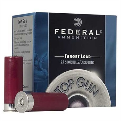 Federal Top Gun Target Shotgun Ammunition Federal Ammo Top Gun 20ga 7/8oz #8 25bx U.S.A. & Canada