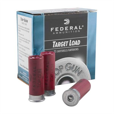 Top Gun Target Shotgun Ammunition - Light 12ga 2-3/4'''' 1-1/8oz #8 Lead Shot 25/Box