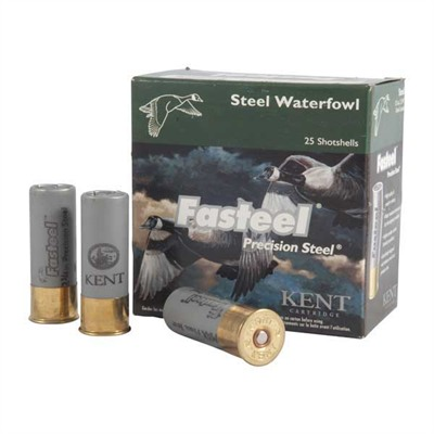 Fasteel Waterfowl Shotshells - Kent Ammo Fasteel Precision Steel  12ga 2 3/4 1 1/8oz 4 25bx