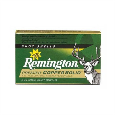Remington Premier Copper Solid Sabot Slugs Rem Ammo 20718 12ga Premier Copper Solid Sabot Slug Ld 5bx U.S.A. & Canada