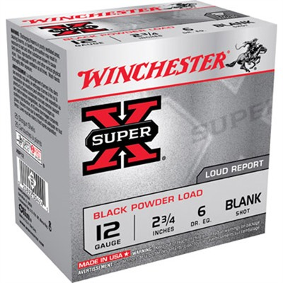 Super-X Black Powder Ammo 12 Gauge 2-3/4'''' Blank Shot - 12 Gauge 2-3/4'''' Blank 25/Box