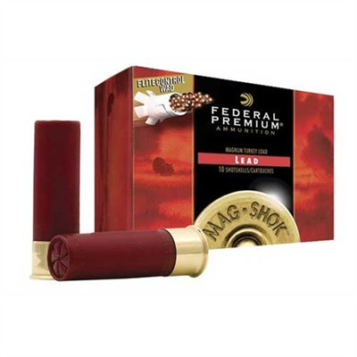 Federal Premium Mag Shok High Velocity Turkey Ammunition Federal Ammo 12ga 2 3/4 Maxdr 1 1/2oz #6 20bx U.S.A. & Canada