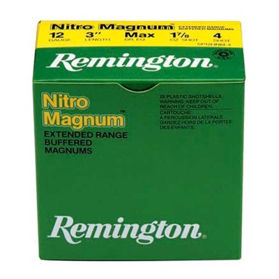 Remington Nitro Mag Buffered Magnum Shotgun Ammunition Rem Ammo 20666 6 20ga 2 3/4 1 1/8oz Nitro Mag Loads 10bx U.S.A. & Canada