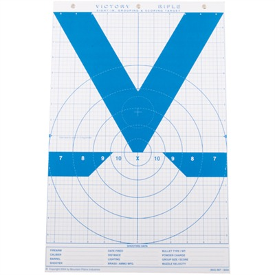 Mt. Plains Victory Rifle & Handgun Targets - Mt. Plains 11''''  X 17''''  - Victory Rifle Model Targ