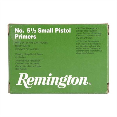 Pistol Primers - No.5 1/2 Small Pistol Mag Primers 1,000/Box