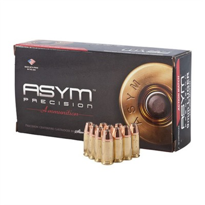 Asym Precision 9mm Ammo - 9mm Practical Match 147 Gr, 50/Bx