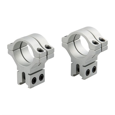 Bkl Tech 300 Series 30mm Scope Rings - 30mm Double Strap Dovetail Rings, Silver