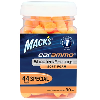 Mack's Ear Plugs Ear Ammo - 44 Pair Jar - Ear Plugs Ear Ammo - 44 Pr Jar