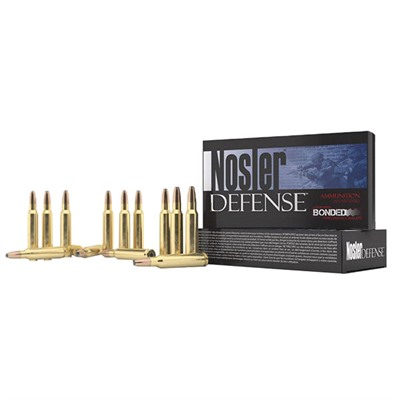Nosler Defense Rifle Ammo - 223 Rem 64gr Bonded Solid Base 20/Box