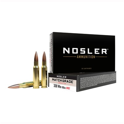 Match Grade Rifle Ammo - 308 Win 168gr Custom Competition 20/Box